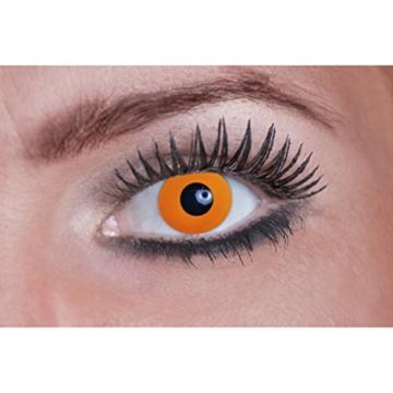Eyecatcher Color Fun UV, Farbige Kontaktlinsen, flash orange, Leuchten im Schwarzlicht, 1er Pack (1 x 2 Stück) - 2