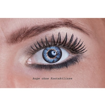 Eyecatcher Natural Color Fun Tone - farbige Kontaktlinsen - light blue 2 - 2 Stück (1 Paar) - 2