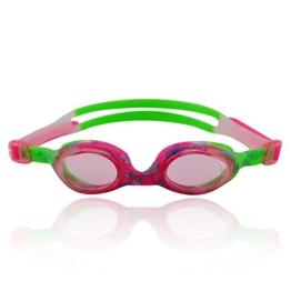 »Flippo« Kinder-Schwimmbrille, 100% UV-Schutz + Antibeschlag. Starkes Silikonband + stabile Box. TOP-MARKEN-QUALITÄT! AF-1700S, pink/grün - 1