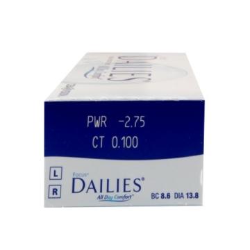Focus Dailies All Day Comfort Tageslinsen weich, 30 Stück / BC 8.6 mm / DIA 13.8 mm / -6.5 Dioptrien - 3