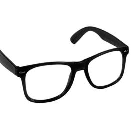 Hornbrille Atzenbrille Nerd Brille Klar oder als Sonnenbrille wayfarer Brille Nerdbrille in verschiedenen Farben. - 1