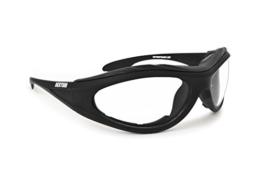 Motorradbrille Photochrome Automatische Scheibentönung Antibeschlag - Sportbrille Ski und Ballistische Schutzbrille Schießbrille - by Bertoni F125 - 1