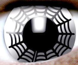 Nerd Clear® Kontaktlinsen 2 Stück SPIDER WEB Monatslinsen - 1