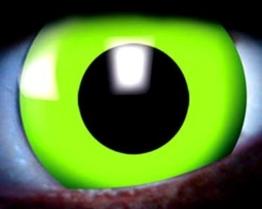 "Nerd Clear® Kontaktlinsen UV 2 Stück ""GIFTGRÜN"" - 1"