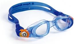 Original Aqua Sphere Moby Kinder Transparente Scheiben Schwimmbrille blau / orange - 1