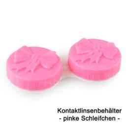 Pinker Kontaktlinsenbehälter mit süßem Schleifchen zur Aufbewahrung aller gängigen Kontaktlinsen, in 6 verschiedenen Farben erhältlich - 1