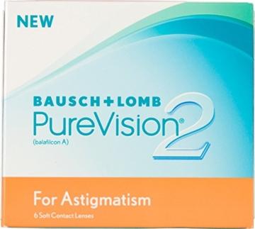 PureVision2 HD for Astigmatism Monatslinsen weich, 6 Stück / BC 8.90 mm / DIA 14.50 CYL -1.25 / ACHSE 100 / -01.25 Dioptrien - 1