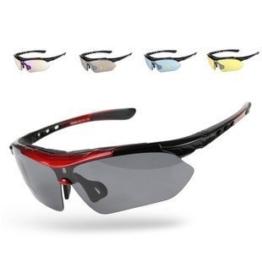 Signstek Outdoor Sport Sonnenbrille Multi Sportbrillen austauschbar 5 Linsen unzerbrechlich Polarized UV400 (Kunststoff) - 1