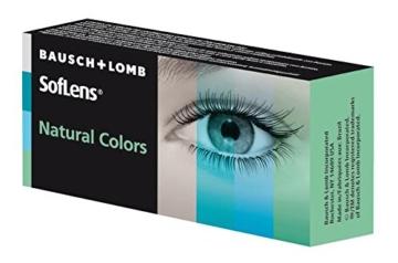 SofLens Natural Colors  Monatslinsen weich, 2 Stück / BC 8.70 mm / DIA 14.00 mm / -00.00 Dioptrien, Platinum - 1