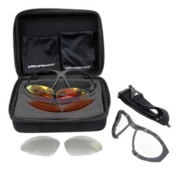 Ultrasport Multifunktions Sportbrille mit 3 Paar Wechselgläsern - 1