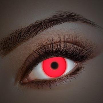 UV Kontaktlinse Red In Your Eyes by aricona - Deckende farbige Jahreslinsen für dunkle und helle Augenfarben ohne Stärke, Farblinsen für Karneval, Fasching, Motto-Partys und Halloween Kostüme - 3