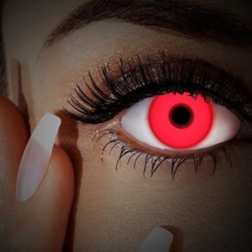 UV Kontaktlinse Red In Your Eyes by aricona - Deckende farbige Jahreslinsen für dunkle und helle Augenfarben ohne Stärke, Farblinsen für Karneval, Fasching, Motto-Partys und Halloween Kostüme - 4