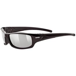 UVEX Sportsonnenbrille Sportstyle 211, Black/Lens Litemirror Silver, One Size, 5306132216 - 1