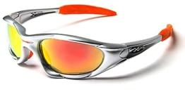 X-Loop Sonnenbrillen - Sport - Radfahren - Skifahren - Laufen - Driving - Motorradfahrer - Kajak - Klettern - Angeln / Mod. 1002 Grau Orange Spektrum / One Size Adult / 100% UV400 Schutz - 1