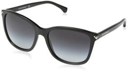 Armani Unisex  Sonnenbrille EA4060, , , , , Gr. Large (Herstellergröße: 56), Schwarz (black 50178G) - 1