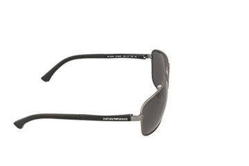Emporio Armani Unisex Sonnenbrille EA2033, Schwarz (Gunmetal Rubber 313087), X-Large (Herstellergröße: 64) - 3