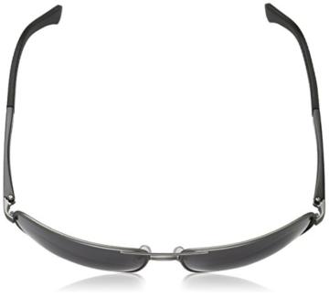 Emporio Armani Unisex Sonnenbrille EA2033, Schwarz (Gunmetal Rubber 313087), X-Large (Herstellergröße: 64) - 4