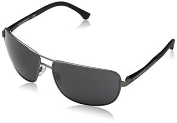 Emporio Armani Unisex Sonnenbrille EA2033, Schwarz (Gunmetal Rubber 313087), X-Large (Herstellergröße: 64) - 1
