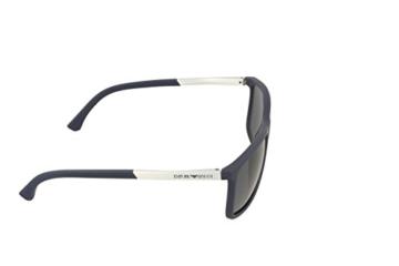 Emporio Armani Unisex Sonnenbrille EA4058, Blau (Blue Rubber 547487), Large (Herstellergröße: 58) - 3