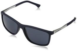 Emporio Armani Unisex Sonnenbrille EA4058, Blau (Blue Rubber 547487), Large (Herstellergröße: 58) - 1