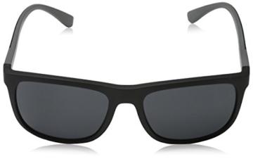 Emporio Armani Unisex Sonnenbrille EA4079, Schwarz (Matte Black 504287), Large (Herstellergröße: 57) - 2