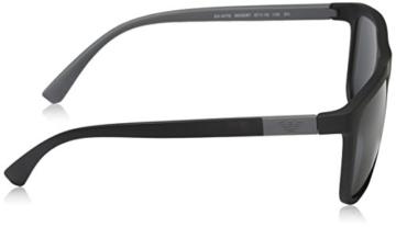 Emporio Armani Unisex Sonnenbrille EA4079, Schwarz (Matte Black 504287), Large (Herstellergröße: 57) - 3
