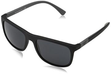 Emporio Armani Unisex Sonnenbrille EA4079, Schwarz (Matte Black 504287), Large (Herstellergröße: 57) - 1