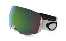 Oakley Skibrille Flight Deck SNOW XM,  lens Prizm Jade Iridium (Matte White with black logo and white band), One Size, OO7064-23 - 1