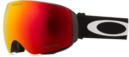 Oakley Skibrille Flight Deck SNOW XM, lens Prizm TORCH Iridium (Matte Black with white logo and black band), One Size, OO7064-39 - 1