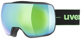 Uvex Compact FM Skibrille, Black Mat (Green), One sizesex - 1