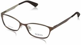 Guess Damen Brille Gu2563 49049 Brillengestelle, Braun, 49 - 1