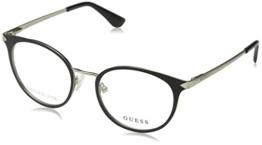 Guess Unisex-Erwachsene GU2639 002 49 Brillengestelle, Schwarz (Nero Opaco), - 1