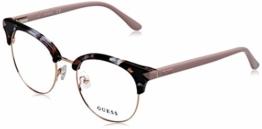 Guess Unisex-Erwachsene GU2671 055 49 Brillengestelle, Braun (Avana Colorata), - 1